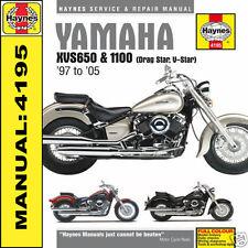Yamaha XVS650 Drag Star XVS1100 V-Star Haynes Manual 4195 Nuevo