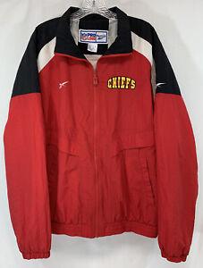 NFL Kansas City Chiefs Adult NFL PRO LINE Reebok Nylon Full Zip Jacket Sz (M)
