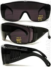 Large Will Fit Over Most Rx Safety Glasses Shield Sunglasses Dark Smoke 101