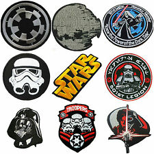 STAR WARS STORM TROOPER BOBA FETT SITH JEDI IRON/SEW-ON 9-SET PATCHES US SELLER