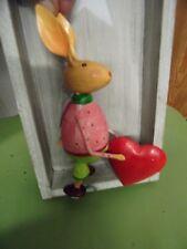 Objeto decorativo LIEBRE Conejo de Pascua Metal Figura Decoración H 19 cm