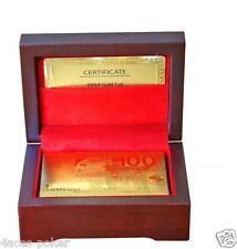 Goldene Pokerkarten Spielkarten Magic 999,9er Gold Edle Karten Plastikkarten