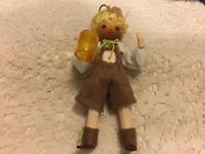New listing Vintage Sarakim Man Holding Beer Mug Figure Doll OrnaMent