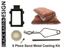 6 Piece Sand Casting Bundle For Metal Casting (Delft Style) Gold Silver Bronze