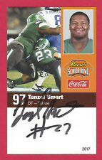TANZEL SMART 2017 SENIOR BOWL TULANE GREEN WAVE SIGNED ROOKIE LOS ANGELES RAMS A