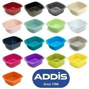 Addis 9.5L Washing Up Bowl Rectangular Plastic Kitchen Sink Dishes Basin