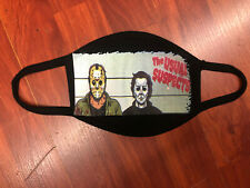 100% COTTON The Usual Horror Suspects Classic Halloween Face Mask for Cycling