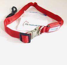 Red Dog Collar Metal Buckle LED Dog Collar, USB Rechargeable Pet collar