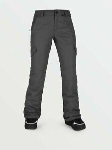 2021 NWT WOMENS VOLCOM BRIDGER INSULATED PANTS $165 S Dark Grey standard fit