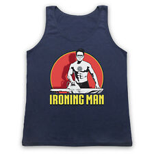 IRONING MAN UNOFFICIAL IRON MAN SUPERHERO PARODY STARK ADULTS VEST TANK TOP