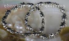 silver elephant bracelet (one pair) ribal exotic chinese handmade miao