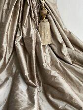 "JAMES HARE Interlined Curtains 100% Silk Dupion Bay/Patio108""d 2.7m *3 Pairs Av"