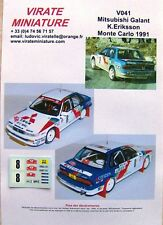 V041 MITSUBISHI GALANT VR4 RALLYE MONTE CARLO 1991 N°8 KENNETH ERIKSSON VIRATE