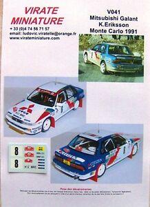 V041 Mitsubishi Galant VR4 Rally Mounted Carlo 1991 N°8 Kenneth Eriksson