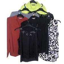 7x Women Bundle Tops UK 12 Shirt Blouse Smart Casual Collar M&S Next H&M Papaya