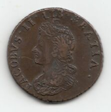 More details for very rare james ii 1691 limerick besieged halfpenny 1/2d reversed n in hibernia