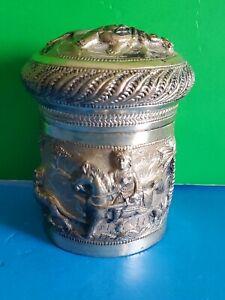 Antique Indian Silver Box Circa 1885
