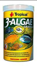 Tropical 3-ALGAE GRANULAT 38g slow sink algae freshwater marine fish food