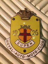 PLAKETTE VINTAGE Oldtimer Car-Badge 1926 EUPEN, BELGIEN, ROYAL-AUTO-MOTO-CLUB