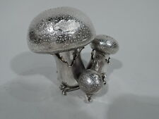 Mario Buccellati Salt & Pepper Shakers - Mushroom Pair - Italian Sterling Silver