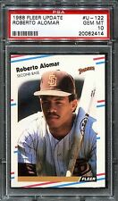 Roberto Alomar Padres HOF 1988 Fleer Update #U-122 Rookie Card rC PSA 10 Gem QTY