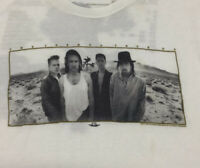 U2 Joshua Tree Tour Vintage Style 1987 White Band Graphic T-Shirt Size Medium