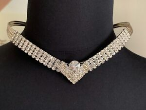 Vintage French Designer Rhinestone Necklace for a princess like evening