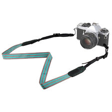 New Mirrorless Camera Shoulder Neck Belt Strap for Canon Sony Nikon Gray + Green