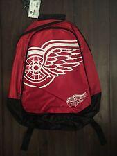 Detroit Red Wings NEW Big Logo Backpack . NHL Hockey School Youth NWT Fun Kids