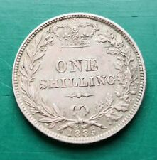 More details for 1885 victoria silver shilling coin #554