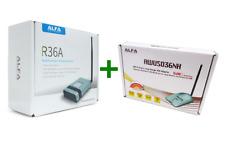 ALFA R36A Wi-Fi USB Router + Alfa AWUS036NH Long Range USB Adapter Combo Bundle
