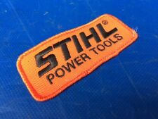 Vintage Stihl Chainsaw Power Tools Embroidered Orange Black Advertising Patch