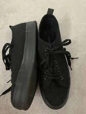 Gents Primark Black Canvas Shoes (Size 8/41)