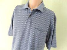 Arrow Polo Shirt Blue Dot Print SZ M Cotton Blend Regular Fit Short Sleeve