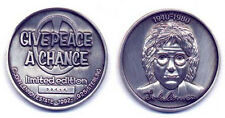 JOHN LENNON STERLING SILVER MEDAL COIN INDIVIDUALLY NUMBERED LTD EDITION & CoA