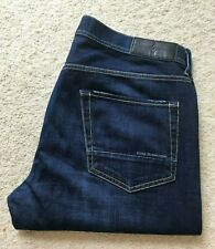 Mens Stone Island indigo blue straight leg denim jeans W 36 L 31