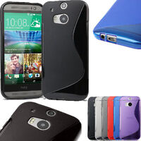 Grip S-Line Wave Silicon Gel Skin TPU Back Case Cover For HTC One M7 M8 Desire