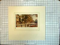 Original Old Antique Print Colour St. Giles Looking Towards Mary Magdalen