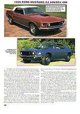1969 Ford Mustang CJ SCJ Article - Must See !! - 428