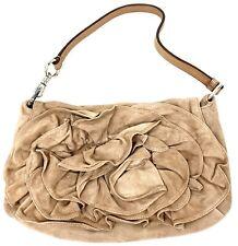 Vintage Yves Saint Laurent Pink Suede Nadja Rose Leather Purse Bag