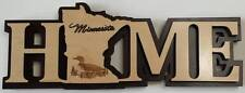 Minnesota Home Decorative Word Art - Loon