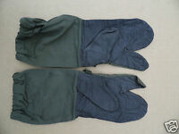 GENUINE DUTCH ARMY COLD WEATHER LEATHER PALMED MITTS  (MANS LARGE)