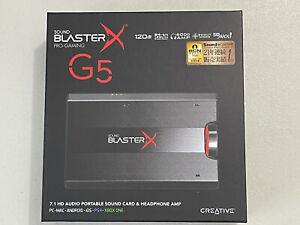 Creative Sound BlasterX G5 Pro Gaming 7.1 HD Headphone Amplifier External Audio.