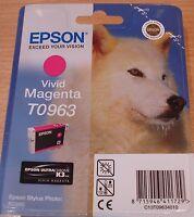 GENUINE EPSON T0963 TO963 Vivid Magenta (red) cartridge ORIGINAL HUSKY R2880 INK