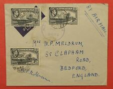 1943 GIBRALTAR FPO 475 AIRMAIL TO ENGLAND WWII CENSOR