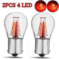 2x Red 4 LED 1157 BAY15D 21/5W Car Reverse Backup Tail Stop Brake Light Bulb