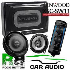 Smart Roadster 03-05 Kenwood Amplified UnderSeat Sub Box & Door Car Speaker Kit