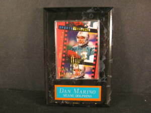 Dan Marino Future Hall of Famer card from Sports Images mounted on plaque