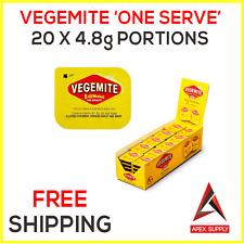 20 x Vegemite Single Serve Portions - Australian Breakfast Snack Motel EXP AUG17