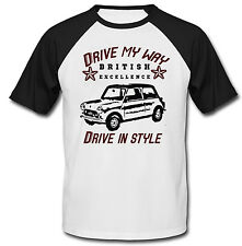 BRITISH LEYLAND MINI VINTAGE DRIVE MY WAY - COTTON TSHIRT - ALL SIZES IN STOCK